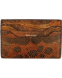 Tom Ford - Mens Lizard Card Case Brown - Lyst