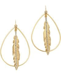 Juicy Couture - Feather Hoop Earrings - Lyst