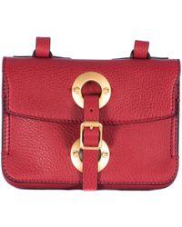 Valentino Red Hammered Leather Shoulder Bag - Lyst