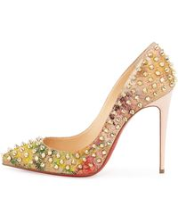 white louboutins shoes - Christian louboutin Nvps Leopard-print Red Sole Pump in Animal ...