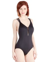 Seafolly Former Or Lattice Onepiece Swimsuit - Lyst