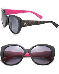 Dior | Lady I 55mm Round Sunglasses | Lyst