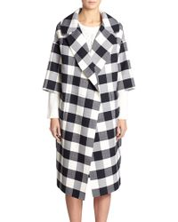 Oscar de la Renta Wool-Blend Buffalo Plaid Coat - Lyst
