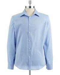 Calvin Klein Slimfit Buttondown Cotton Dress Shirt - Lyst