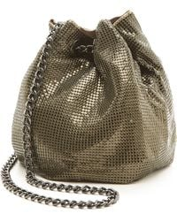 Whiting & Davis Soft Metal Bucket Bag - Antique Gold - Lyst