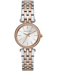 Michael Kors Mini Two-Tone Stainless Steel Darci Glitz Watch - Lyst