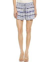 Ella Moss - Cortez Mini Shorts - Indigo - Lyst