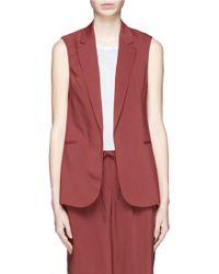 Theory 'Adar' Virgin Wool Blend Waistcoat - Lyst