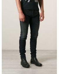 Diesel Distressed Skinny Jeans - Lyst
