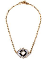 Lulu Frost Ravenna Pendant Necklace gold - Lyst