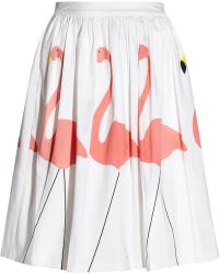 Alice + Olivia Hale Printed Stretchcotton Skirt - Lyst