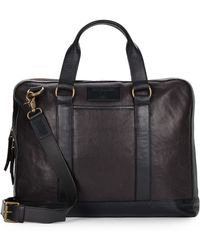 John Varvatos - Milano Leather Briefcase - Lyst