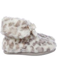 Therapy | Leopard Print Slipper Boot | Lyst