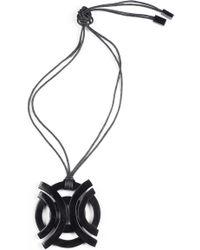 Natori Horn Geo Necklace black - Lyst