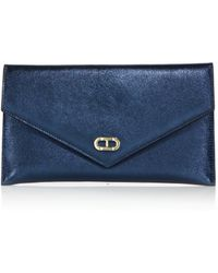 Dee Ocleppo - Editor's Metallic Leather Envelope Clutch - Lyst