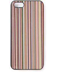 Paul Smith Classic Stripe Phone Case - Lyst