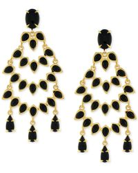 Vince Camuto - Gold-tone Stone Drama Chandelier Earrings - Lyst
