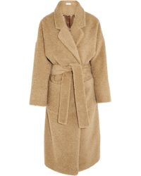 Isa Arfen Oversized Brushed Alpaca and Mohairblend Coat - Lyst