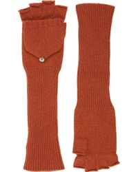 Barneys New York Fingerless Convertible Mittens - Lyst