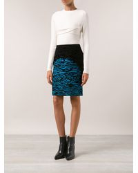 Proenza Schouler Wood Grain Skirt - Lyst