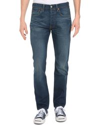 Levi's Standard Dark Washed Denim 501 Jeans - Lyst