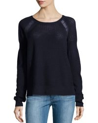 Halston Heritage Wool Lace Sweater - Lyst