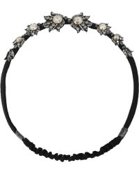 Lanvin - Crystalembellished Braided Cotton Headband - Lyst