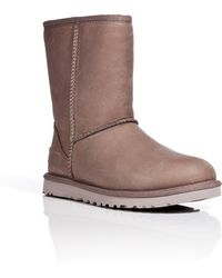 Ugg Leather Classic Short Boots - Lyst