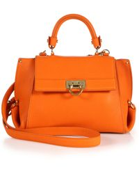 Ferragamo | Sofia Small Leather Satchel | Lyst