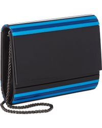 Barneys New York Mina Clutch blue - Lyst