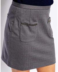 See U Soon Mini Skirt with Chain Detail Pockets - Lyst