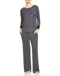 Midnight By Carole Hochman - Cosy Jersey Stripe Pyjama Set - Lyst