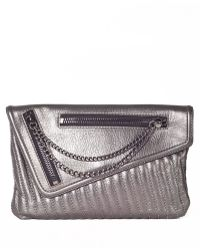 Sanctuary - Heavy Metal Leather Clutch - Lyst