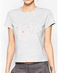 See By Chloé Peek-A-Boo Short Sleeve T-Shirt - Lyst