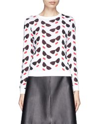 Alice + Olivia 'Smiley Stace' Face Sweater - Lyst