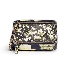 Givenchy 'Pandora' Mini Baby'S Breath Floral Print Leather Bag multicolor - Lyst