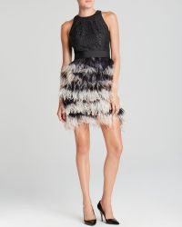 Milly Dress Blair Feather - Lyst