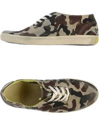 Leather Crown Low-tops  Trainers - Lyst