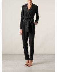 Gucci Black Belted Jumpsuit - Lyst