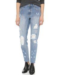 MINKPINK - Street Riot Distressed Jeans - Lyst