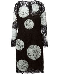 Dolce & Gabbana Lace Floral Circles Dress - Lyst