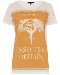 Burberry Prorsum - Book Cover Print Cotton T-shirt - Lyst