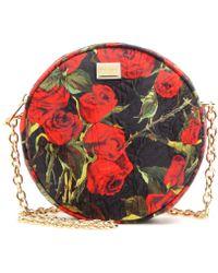 Dolce & Gabbana Glam Floral Printed-Brocade Shoulder Bag - Lyst