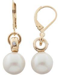 Kate Spade - Leverbacks Body Pearl Drop Earrings - Lyst