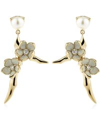 Shaun Leane Cherry Blossom Branch Earrings - Lyst