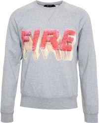 No 21 Fire Sweatshirt - Lyst