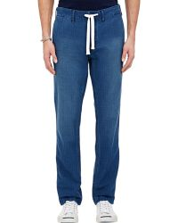 Alex Mill Herringbone Stripe Denim Drawstring Trousers - Lyst