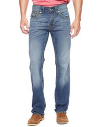 True Religion Hand Picked Straight Big T Old Multi Stitch Mens Jean - Lyst