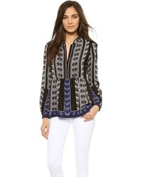 Twelfth Street by Cynthia Vincent Bell Sleeve Blouse Tribal Romance - Lyst