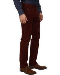 Ag Adriano Goldschmied Matchbox Slim Straight Twill Pant in Dogwood Red - Lyst